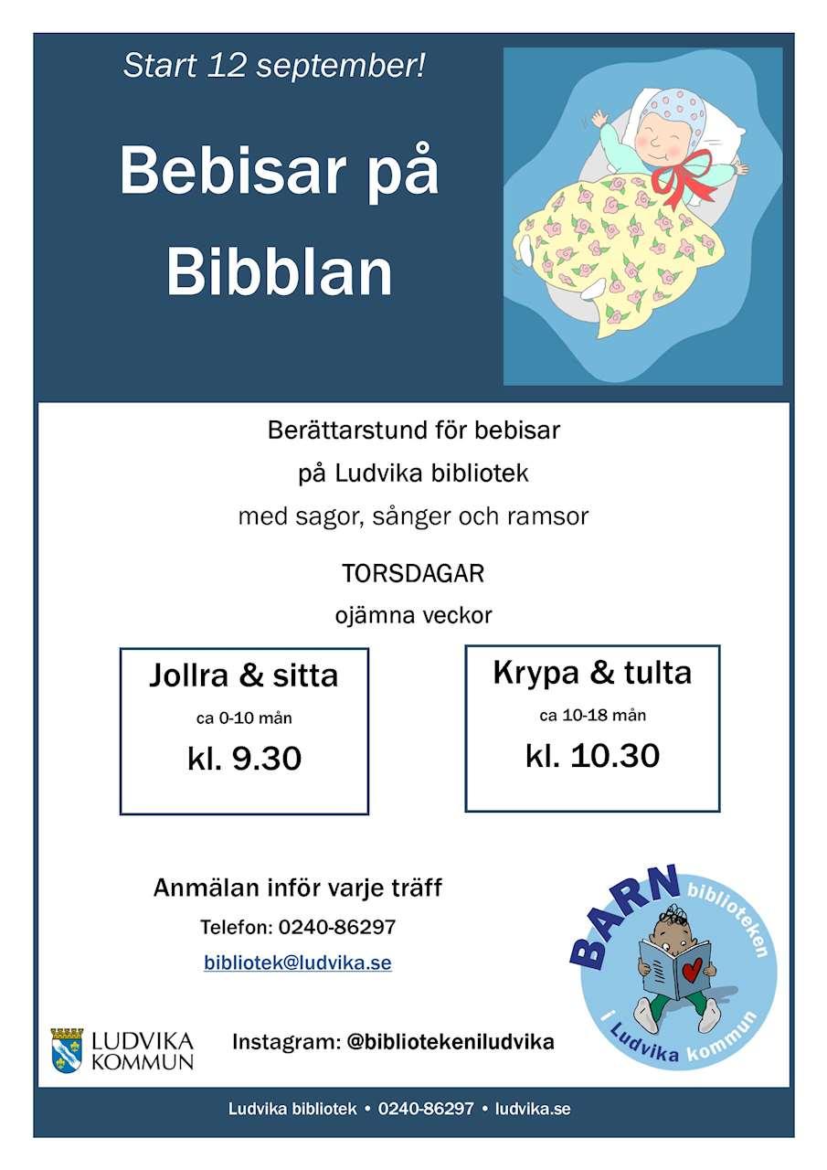 Berättarstund för bebisar på Ludvika bibliotek